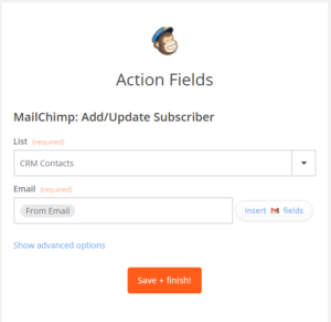 zapier gmail to mailchimp automation