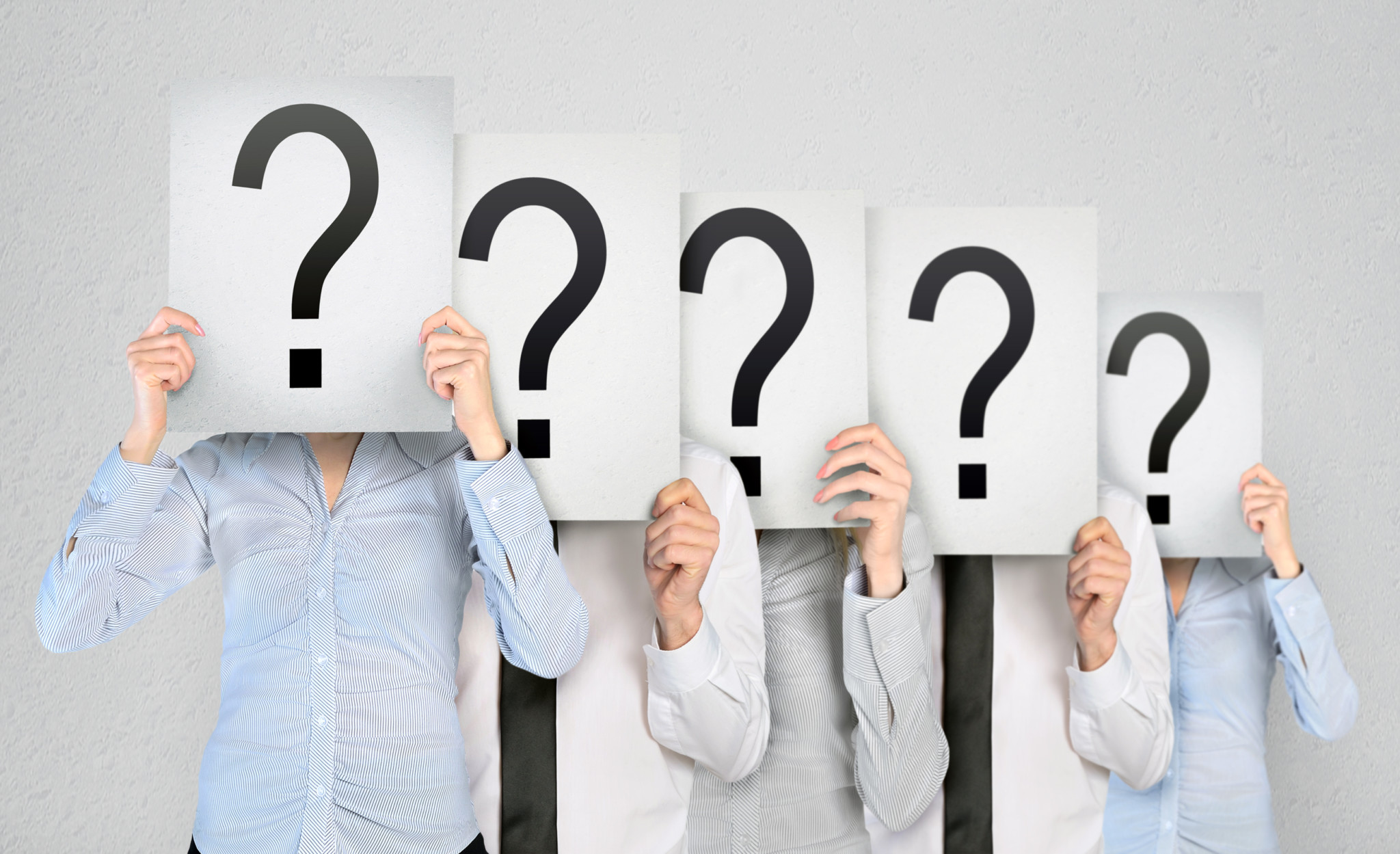 Figuring our where to advertise - image with question marks