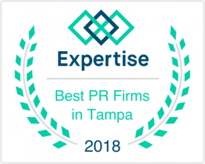 Expertise Badge for Best PR Firms in Tampa for 2018